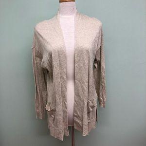 Chaps   Women's Beige Long Sleeved Cardigan